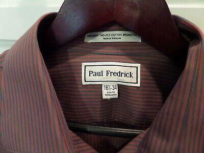 Cotton Non Iron French Cuff (PAUL FREDRICK Dress Shirt French Cuff Non-Iron Cotton Shirt w/ Pocket 16 1/2- 33 )