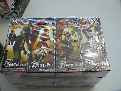 Horrorclix Freak Show booster 4 figures  FREE SHIPPING & bonus.  D&D, Pathfinder