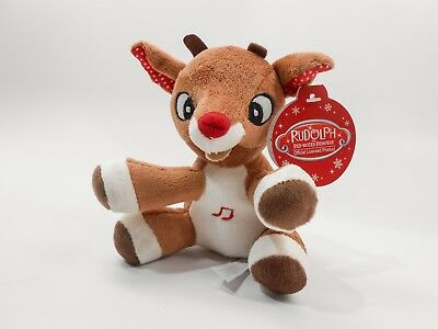 Rudolph, The Red-Nosed Reindeer, MUSICAL 5 inch (12.7 cm) Plush Toy , NEW!