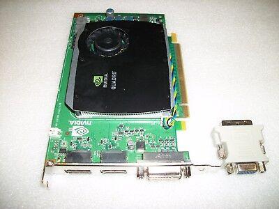 Dual Monitor NVIDIA Quadro FX580 GDDR3 512MB Video Graphics Card PCI-Express VGA