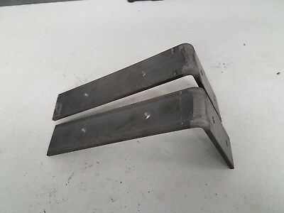 """5 Pack - 6X9"""" Shelf Brackets Angle Metal UNFINISHED  Modern Industrial Iron"""