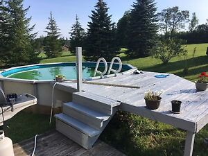 18ft pool with deck and accessories