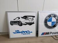 Toyota supra MK4 2jz-gte BMW M3 M5 m Power Leuchtschild Garage Ha Nordrhein-Westfalen - Nieheim Vorschau