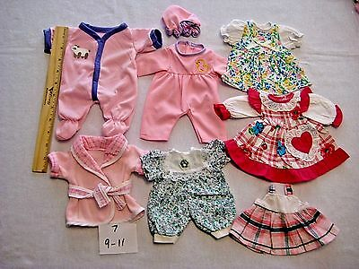 Baby DOLL CLOTHES LOT FiTs medium /small size Dolls 9