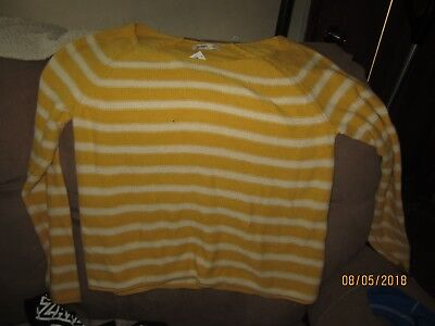 OLD NAVY X-LG YELLOW/WHITE SWEATER  NEW  WITH TAGS