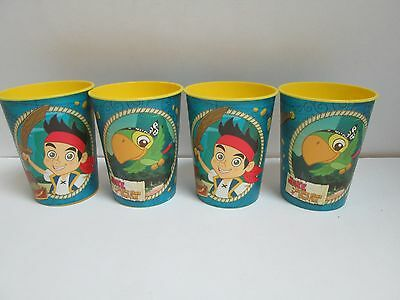 JAKE AND THE NEVERLAND PIRATES PLASTIC PARTY CUPS 16 oz 726528299718 LOT OF 4  - Jake And The Neverland Party