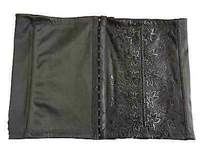 "New Black Waist Cincher 31 - 32"" UK 14 Belly Band Girdle Slimming Floral Corset"