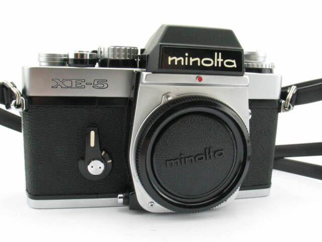 Minolta XE-5, XE5, Kamerabody, analoge Spiegelreflexkamera, TOP