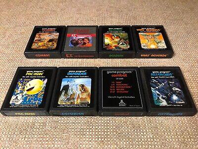 8x Atari 2600 Games Yars' Revenge Berzerk ET Asteroids Pac-Man Defender VCS Lot