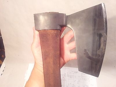 Hewing Goosewing Bearded Broad Axe   Viking Style  Green Woodworking Tool