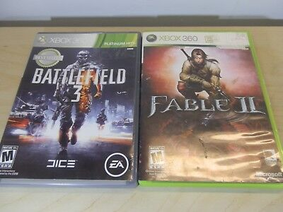 Xbox 360 Games : Battlefield 3 & Fable II for sale  Hanover Park