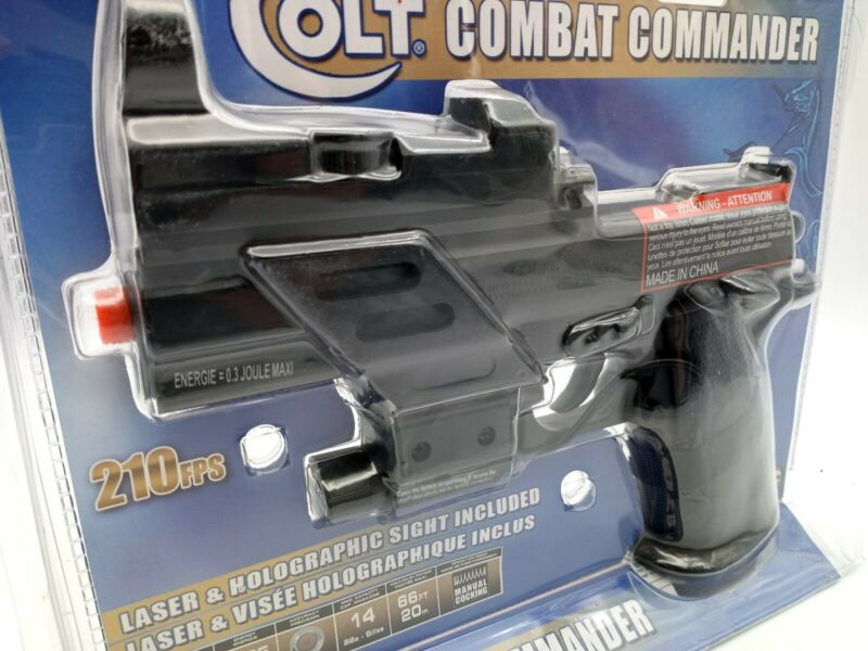 Colt  Combat Commander  Spring Airsoft Pistol with lazer and holographic sight