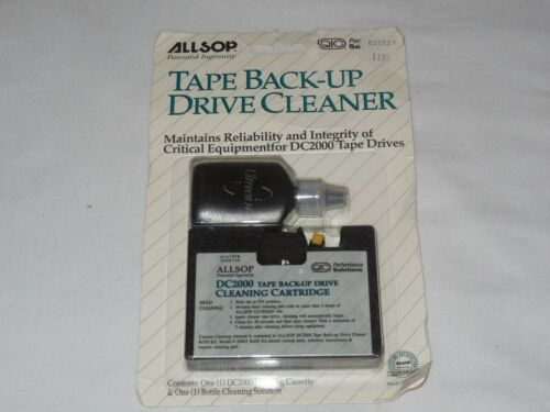 1995 Allsop DC 2000 Series Computer Tape Drive Cleaning Kit NEW Sealed DC2000