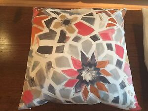 West Elm silk patterned cushion with insert Brighton Bayside Area Preview