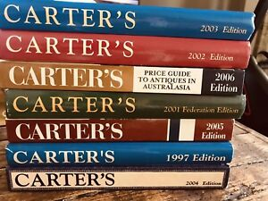 Carters antique price guides $10 each. Various years.