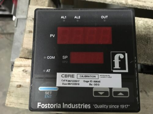 Fostoria Industries Process Control Equipment, calibrated on 6-12-17, with mount