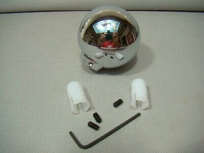 round chrome shifter handle shifter lever shift knob covers chrome shifter knob
