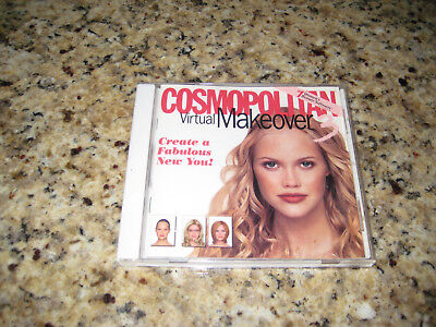 Cosmopolitan Virtual Makeover 3 PC CD-ROM 2000 Broderbund Mattel Windows 95/98