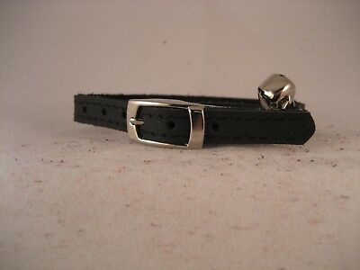 LEATHER BLACK CAT COLLAR