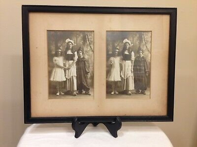 Rare 1800s Halloween Costume Abraham & Strauss Cabinet Card Framed Photographs (Halloween Costumes 1800)