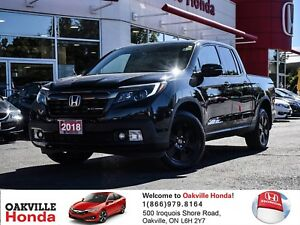 2018 Honda Ridgeline Black Edition 1-Owner|Demo|Lease From 0.99%