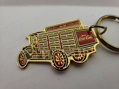 1987 Coca-Cola Delivery Truck Key Chain Vintage Coke GOOD CONDITION