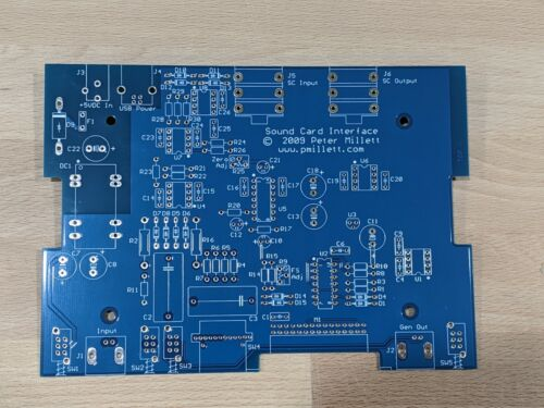 DIY PCB (only) - Sound Card Interface / RMS Voltmeter