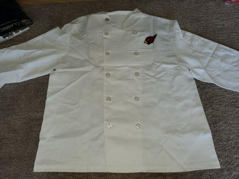 Tailgate 29 ChefNFL Premium Chef Coat Arizona Cardinals Medium
