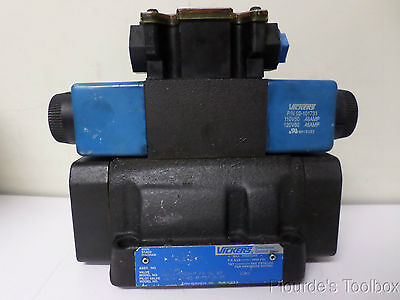 Used Vickers Solenoid Actuated Hydraulic Directional Control Valve 110-120v