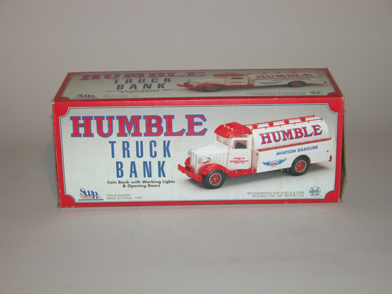 1993 HUMBLE AVIATION GASOLINE TRUCK BANK 1st IN A SERIES CHINA MINT