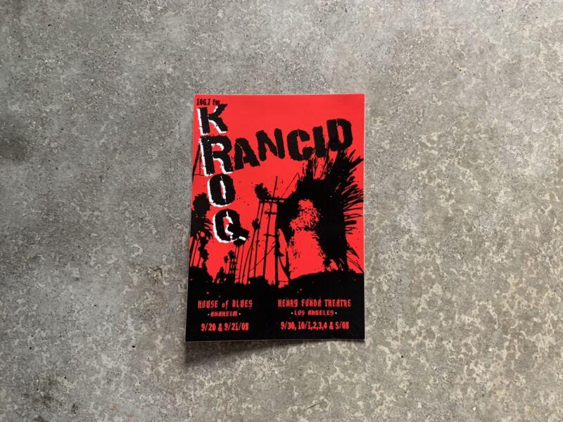 Rancid X KROQ - Sticker - 2008