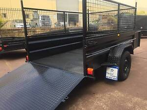LAWN MOVER 8X5 HI SIDE RAMP+CAGE 12 MONTHS PRIV REGO $2650 Penrith Area Preview