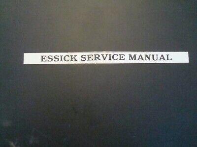 Essick Service Manual For Concreteplaster Mixersvibrating Rollers Etc.
