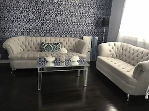 beautiful couch set with coffee table!
