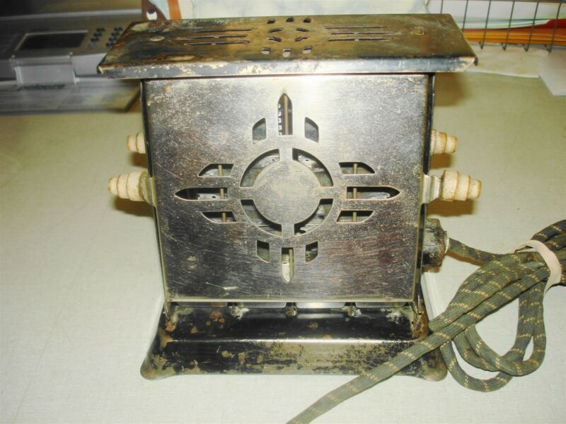 c1930s Antique Electric Toaster - SUN-CHIEF Winstead CT - NM/Zia Die-Cut Design