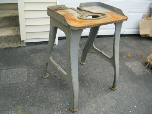 """industrial cast Iron base table legs machine age VINTAGE   29""""  legs only"""