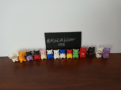 LOT 14 Hamsters Dog Cats Iwako Japanese Collectible Erasers Back to School