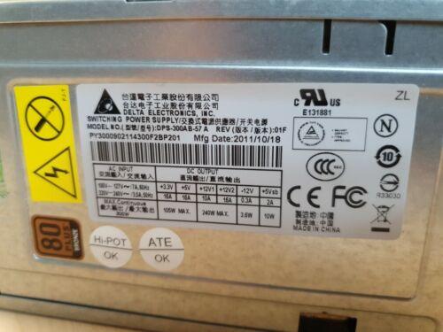 Alimentation pc atx  delta electronics dps-300ab-57 a rev 01f  80 bronze plus