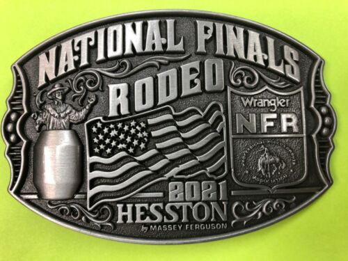 NEW 2021 Hesston National Finals Rodeo Belt Bluckle (Adult size)