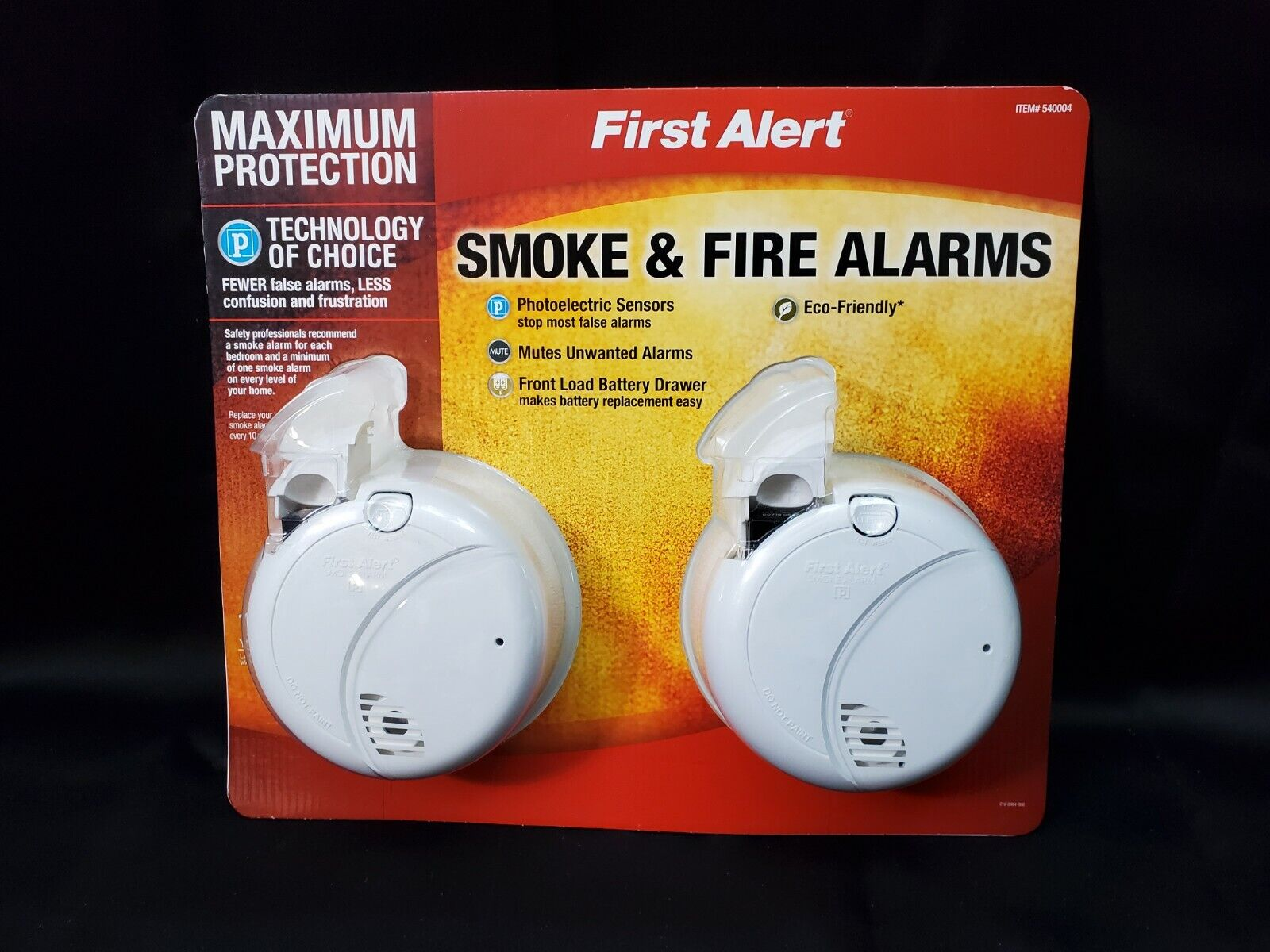 First Alert Photoelectric Smoke and Fire Alarm 2 Pack