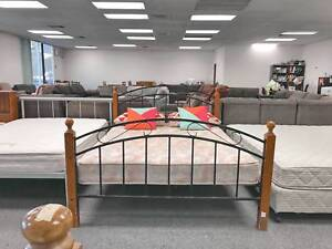 TODAY DELIVERY MODERN QUeen bed frame (mattress available)