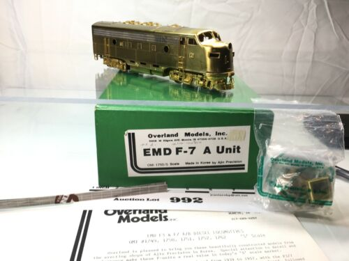 Lot992 Overland Models S Scale Brass EMD F-7 A Unit Diesel 2 Rail