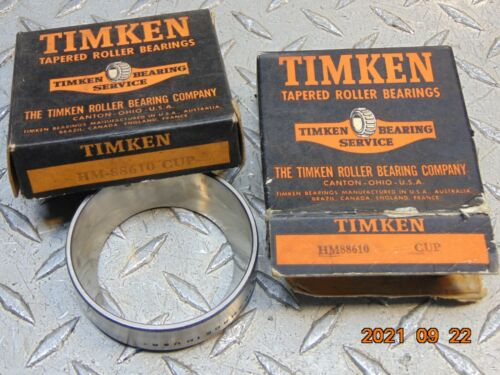 *LOT OF 2* NEW TIMKEN HM88610 BEARING CUP / RACE *FREE SHIPPING*