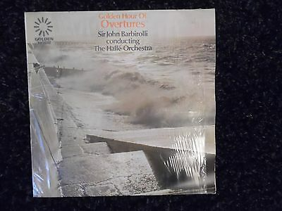 GOLDEN HOUR OF OVERTURES VINYL LP SIR JOHN BARBIROLLI