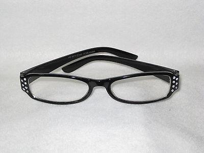 Glamour Reading Glasses - Various Diaptors - Black Frames - NEW - FREE (Glamour Glasses)