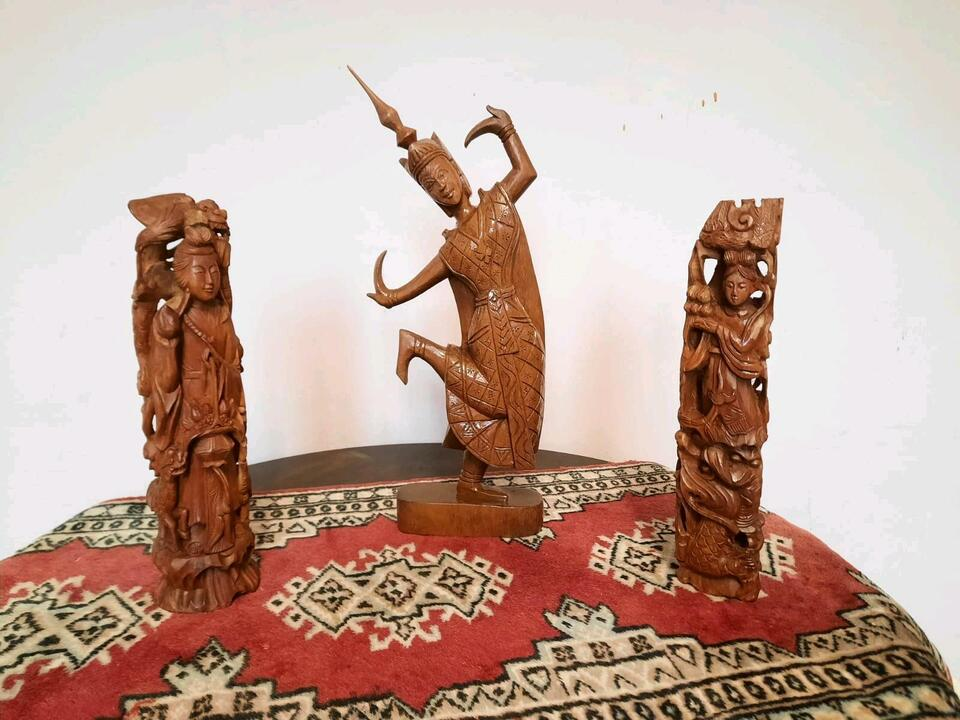 Holzfiguren RETRO Asia Afrika in Groß-Gerau