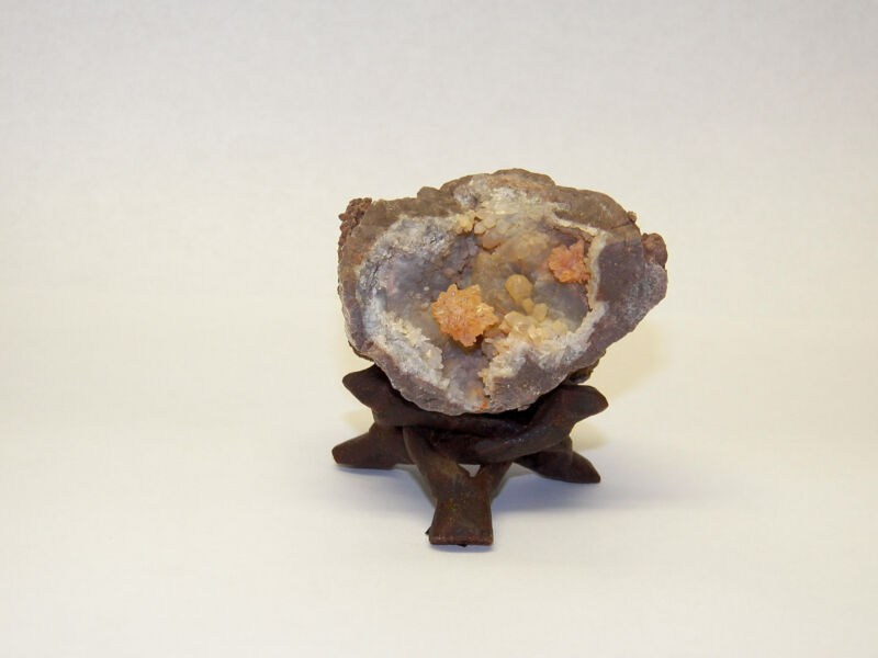 """5 Small 2"""" DISPLAY STAND STANDS Carved Wood 3-legs Mineral Fossil Specimen"""