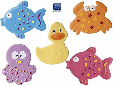 Badematte Set 5-teilig für Kinder  / Antirutschmatte für die Badewanne