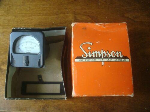 Simpson Milliamp Meter Model