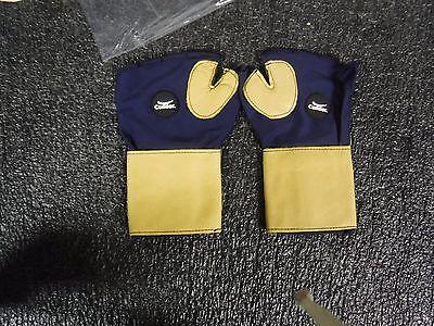 CONDOR 2HEV6 Anti-Vibration Gloves M Blue/GoldPR  Leather Palm Material (MJ) - Mj Gloves